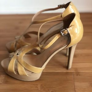 Nude high heeled Sandals